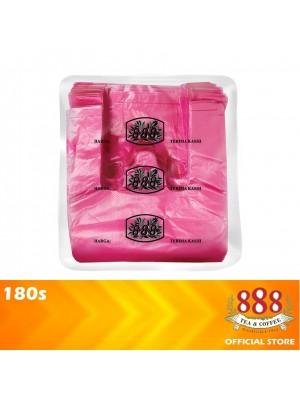 888 Singlet Plastic Bag T-Shirt Bag Red 180s
