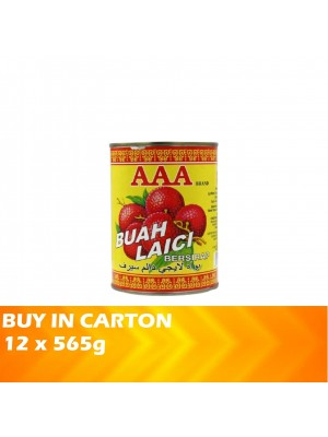 AAA Syrup Whole Lychees 12 x 565g