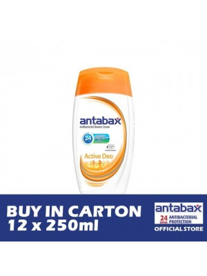 Antabax Anti-Bacterial Shower Gel - Active Deo 12 x 250ml