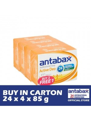 Antabax Anti-Bacterial Body Soap - Active Deo 24 x 4 x 85g