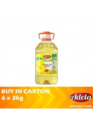 Adela Canola Oil 6 x 3kg