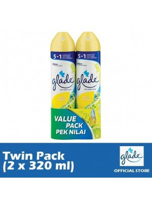 Glade Aerosol Fresh Lemon (Twin-Pack 2 x 320ml)