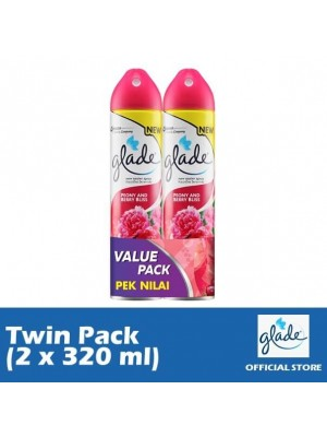 Glade Aerosol Peony & Berry Bliss (Twin-Pack 2 x 320ml)