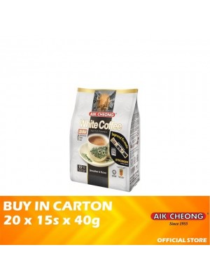 Aik Cheong 3 in 1 White Coffee Tarik Less Sugar 20 x 15s x 40g