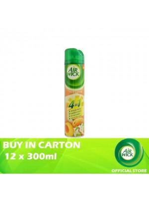 Air Wick 4 in 1 Air Freshener Aerosol Peach Jasmine 12 x 300ml