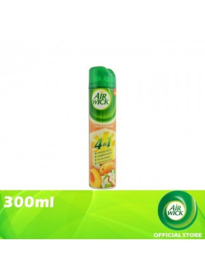 Air Wick 4 in 1 Air Freshener Aerosol Peach Jasmine 300ml