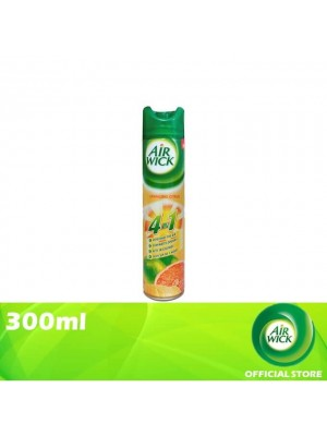 Air Wick 4 in 1 Air Freshener Aerosol Sparkling Citrus 300ml [MUST BUY]