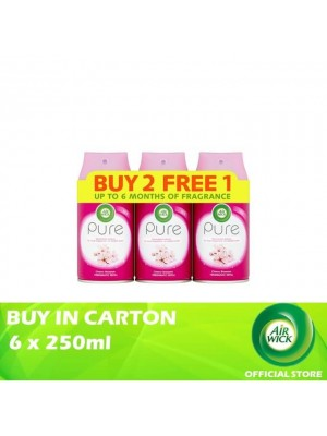 Air Wick Pure Cherry Blossom Freshmatic Refill 6 x 3 x 250ml (Buy 2 Free 1)