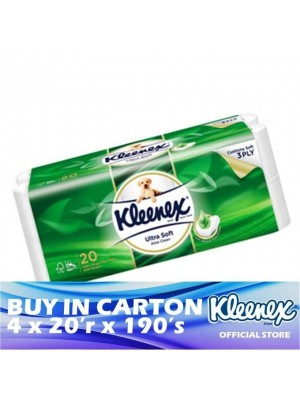 Kleenex Clean Care 3ply Aloe Vera 4 x 20'r x 190's