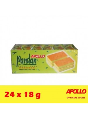 Apollo Pandan Layer Cake 24 x 18g [MUST BUY]