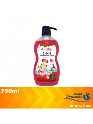 AromaKids 2 in 1 Shampoo & Bath Cutie Cherry 750ml [MUST BUY]
