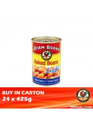 Ayam Brand Baked Beans in Tomato Sauce - Light 24 x 425g [Essential]