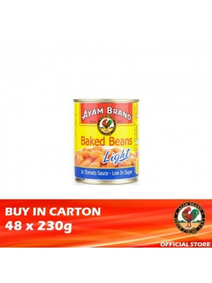 Ayam Brand Baked Beans in Tomato Sauce - Light 48 x 230g