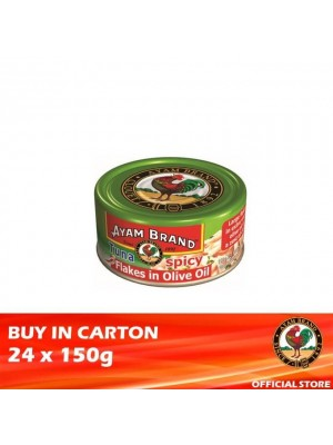 Ayam Brand Classic Spicy Tuna Flakes in Olive Oil 24 x 150g [Essential]
