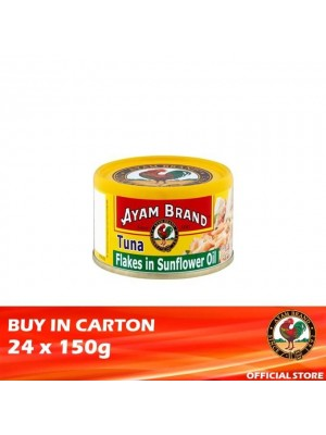 Ayam Brand Classic Tuna Flakes in Sunflower Oil 24 x 150g