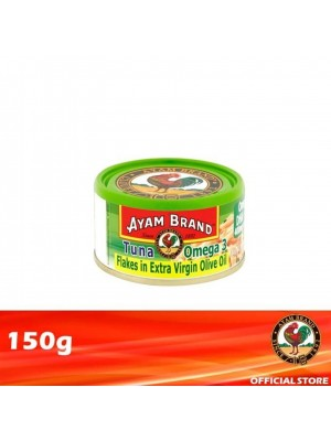 Ayam Brand Classic Tuna Flakes Omega-3 in Extra Virgin Olive Oil 150g [Essential]