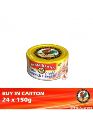 Ayam Brand Classic Tuna Light Sandwiches Flakes in Oil 24 x 150g