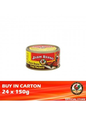 Ayam Brand Fried Mackerel with Black Beans 24 x 150g [Essential]
