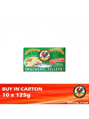 Ayam Brand Mackerel Fillets in Extra Virgin Olive Oil 10 x 125g [Ready to Eat]