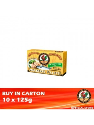 Ayam Brand Mackerel Fillets in Sunflower Oil 10 x 125g [Ready to Eat]