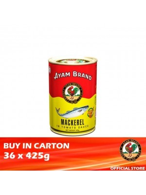 Ayam Brand Mackerels in Tomato Sauce - Tall 36 x 425g [Essential]