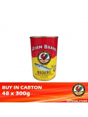 Ayam Brand Mackerels in Tomato Sauce - Tower Cans 48 x 300g