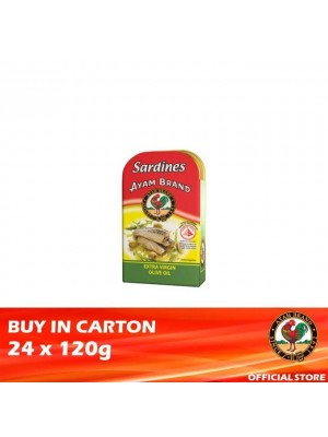 Ayam Brand Sardine in Extra Virgin Olive Oil 24 x 120g [Essential]