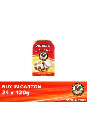 Ayam Brand Sardine Extra Virgin Olive Oil & Chilli 24 x 120g [Essential]