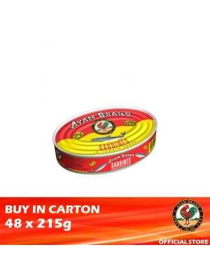 Ayam Brand Sardines in Tomato Sauce - Small Oval 48 x 215g