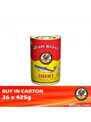 Ayam Brand Sardines in Tomato Sauce - Talls 36 x 425g