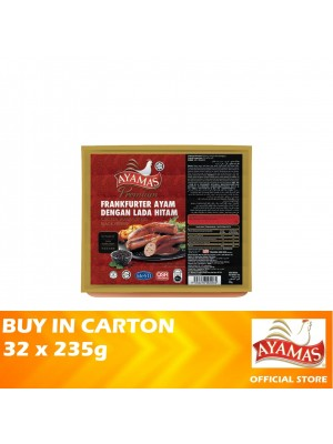 Ayamas Chicken Frankfurters Black Pepper 32 x 235g