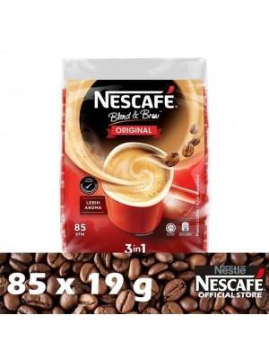 Nestle Nescafe Blend & Brew 3 in 1 Original Premix Coffee 85 x 19g