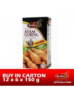Bestari Fried Chicken Coating - Black pepper 12 x 6 x 150g