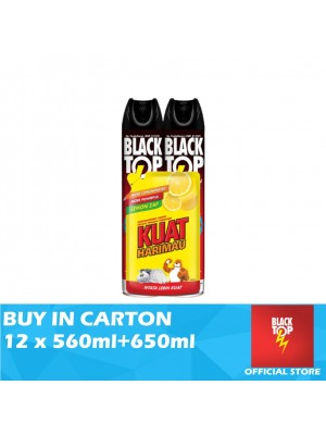 Blacktop Flying Insect Killer Twin Pack 12 x 560ml Free Kuat Harimau Dishwashing Liquid 650ml