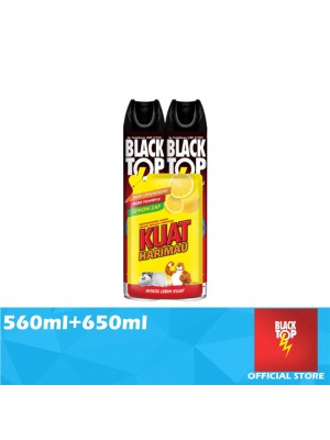 Blacktop Flying Insect Killer Twin Pack 560ml Free Kuat Harimau Dishwashing Liquid 650ml