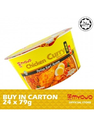 Myojo Noodle Bowl - Curry Chicken 24 x 79g [HALAL]