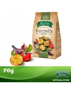 Bruschette Maretti Mediterranean Vegetables Flavour Baked Bread Snack 70g [Essential]