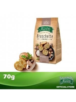 Bruschette Maretti Mushroom & Cream Flavour Baked Bread Snack 70g [Essential]