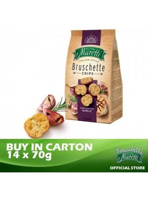 Bruschette Maretti Roasted Garlic Flavour Baked Bread Snack 14 x 70g