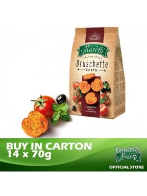 Bruschette Maretti Tomato, Olives & Oregano Flavour Baked Bread Snack 14 x 70g [Essential]