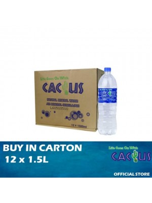 Cactus Mineral Water 12 x 1.5L