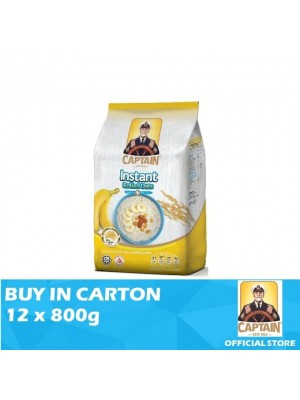Captain Oats Foil Pack Instant Rolled Oats 12 x 800g