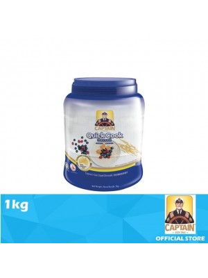 Captain Oats Jar Quick Cook Oatmeal 1kg [Ramadan21]