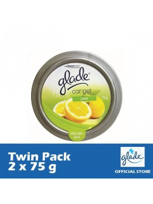 Glade Car Gel Lemon (Twin Pack 2 x 75g)
