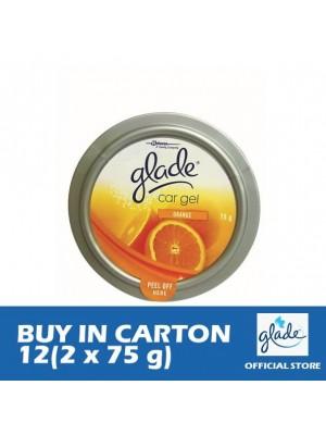 Glade Car Gel Orange 12 (Twin Pack 2 x 75g)