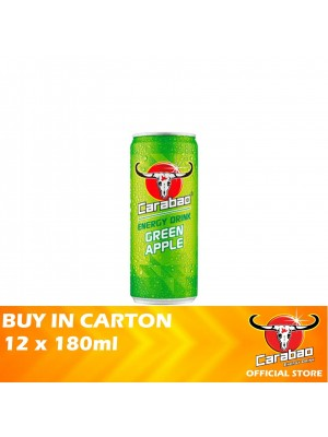 Carabao Energy Green Apple 12 x 180ml