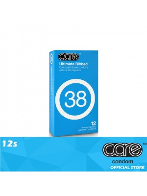 Care 38 Ultimate Ribbed Condom 12s
