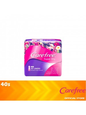 Carefree Super Dry Shower Fresh Scent 40s