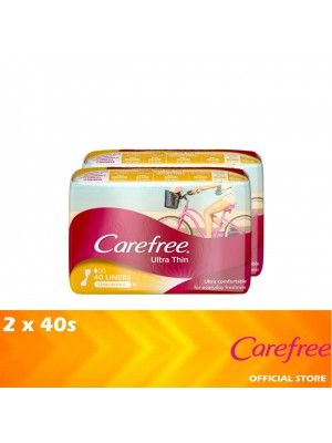 Carefree Ultra Thin Unscented (Twin Pack 2 x 40's) [MUST BUY]