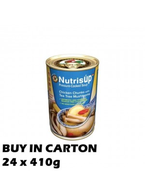 NutrisUP Chicken Chunks with Tea Tree Mushrooms 24x410g